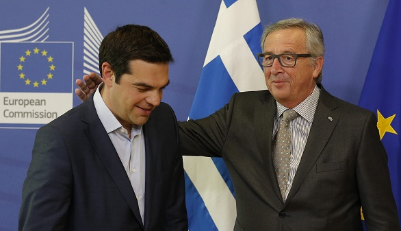 Alexis Tsipras and Jean-Claude Juncker: Still friendly after all these months
